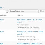 Times shown in the WooCommerce order listing