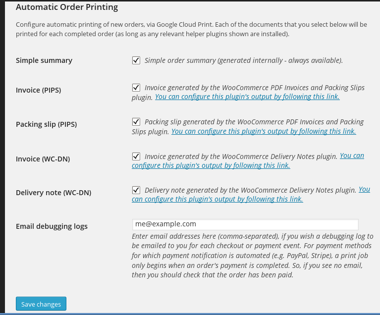 Setting up Cloud Printing