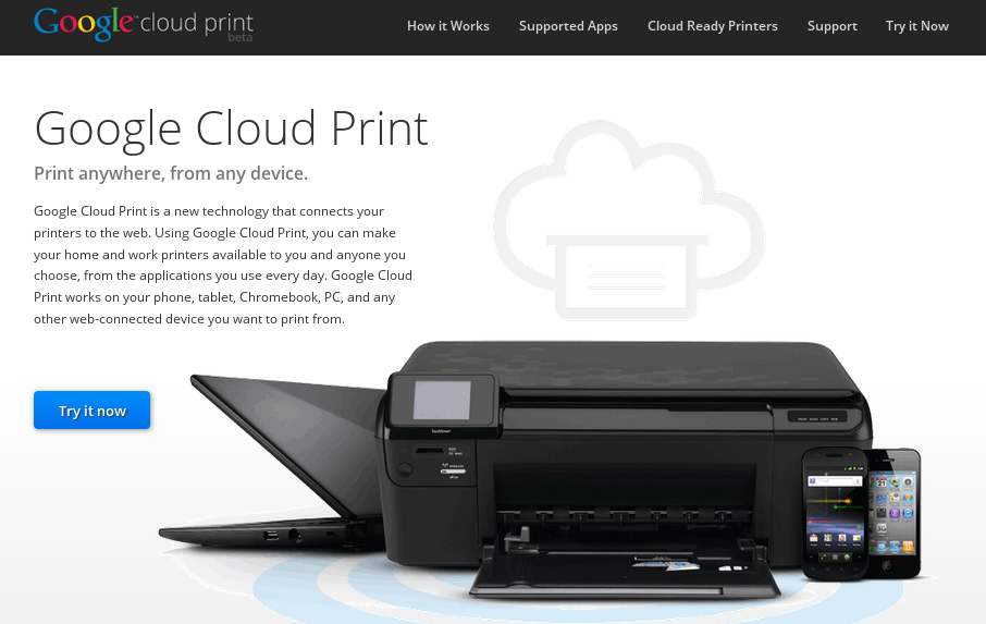 Powered by Google Cloud Print
