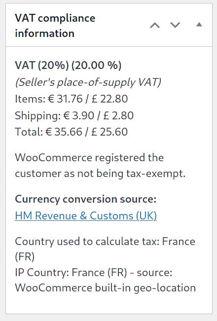 VAT meta information