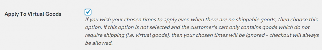 Apply to virtual goods setting