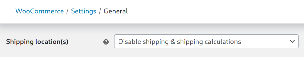 Disabled shipping