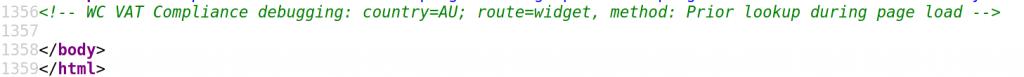 Debugging HTML comment